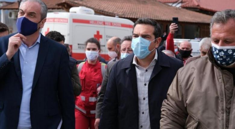 Τσίπρας: «Βομβαρδισμένο τοπίο» το Δαμάσι – Ανάγκη άμεσης στήριξης των σεισμοπαθών (Photos) - Κεντρική Εικόνα