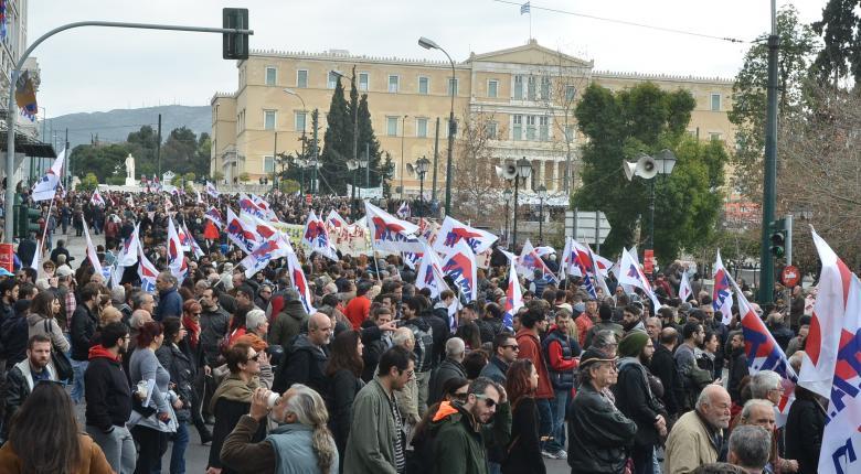 Συλλαλητήρια στο κέντρο της Αθήνας στο πλαίσιο της εργατικής Πρωτομαγιάς      - Κεντρική Εικόνα