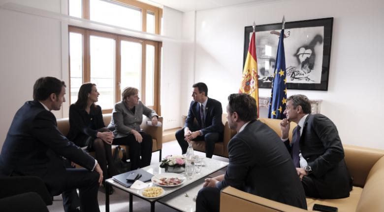 Συνάντηση Μητσοτάκη, Μακρόν, Μέρκελ, Σάντσεθ, Κόντε στις Βρυξέλλες - Κεντρική Εικόνα